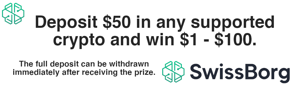 Deposit and $50 in any supported crypto currency and win $1 - $100